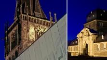 Ahaus - Kirchturm und Schloss