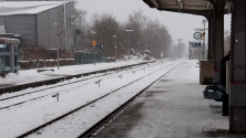 Ahaus, Bahnsteig, vor Abfahrt nach Amsterdam